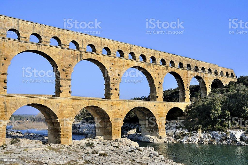 Pont du Gard stock photo