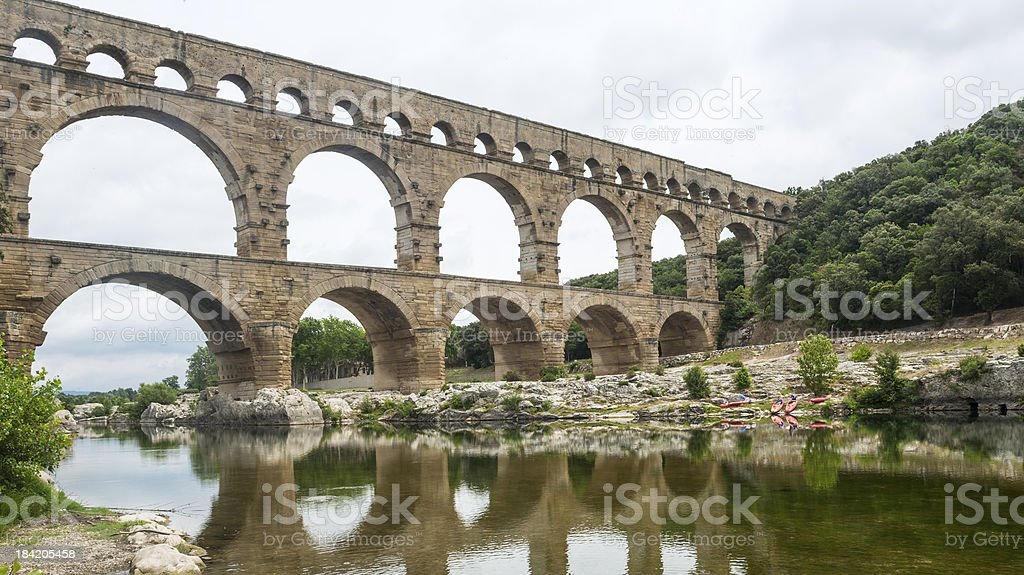 Pont du Gard royalty-free stock photo