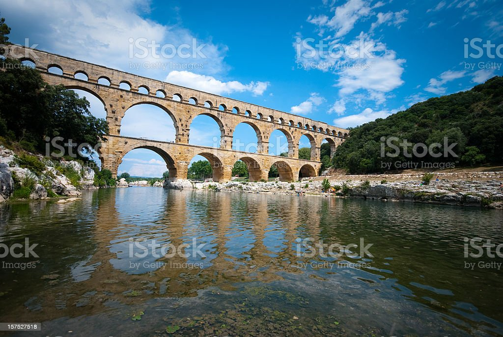 Pont du Gard, Provence, France stock photo