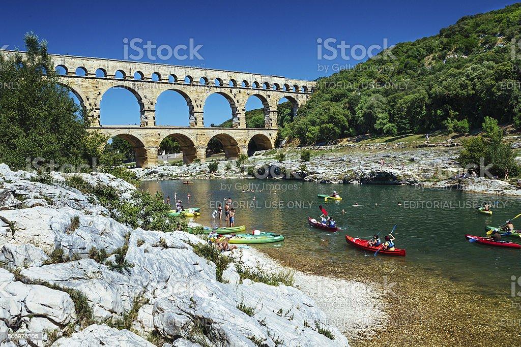 Pont du Gard, Provence France stock photo