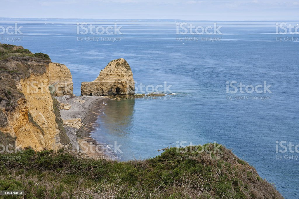 Pont du Hoc, Battlefield WW2 during the invasion of Normandy royalty-free stock photo