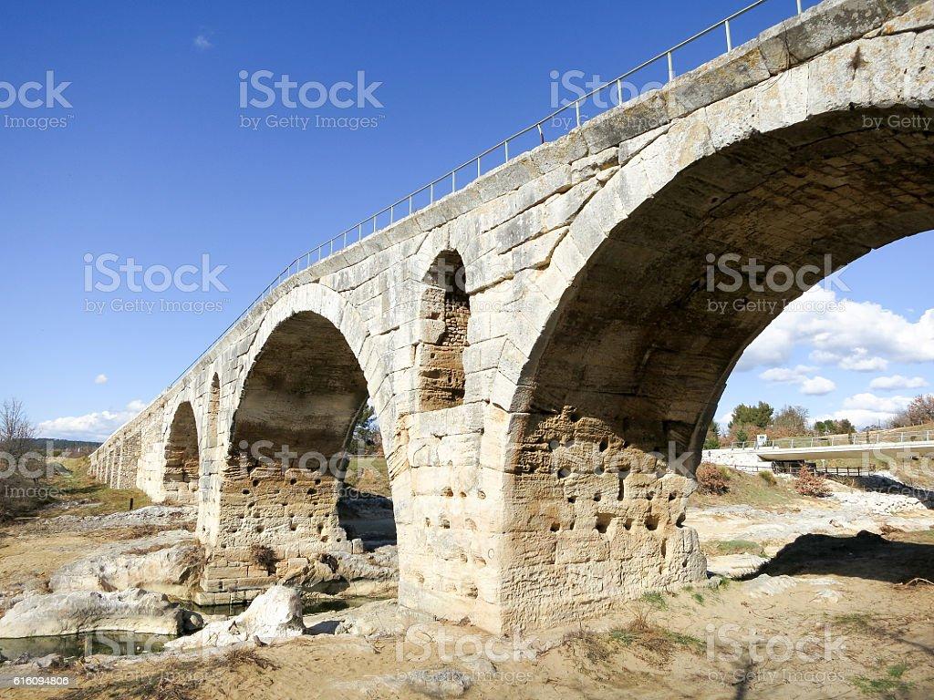 Pont Julien,ancient Roman bridge,South France stock photo