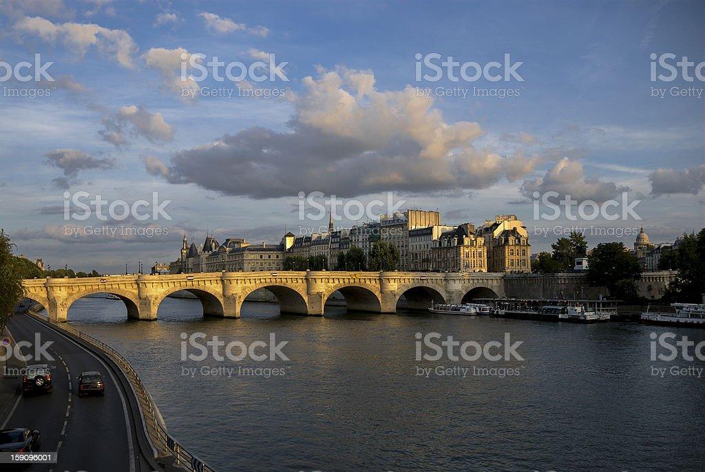 Pont Neuf across the Seine stock photo