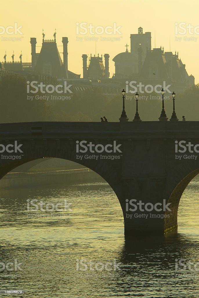 Pont Neuf bridge over the Seine, Paris royalty-free stock photo