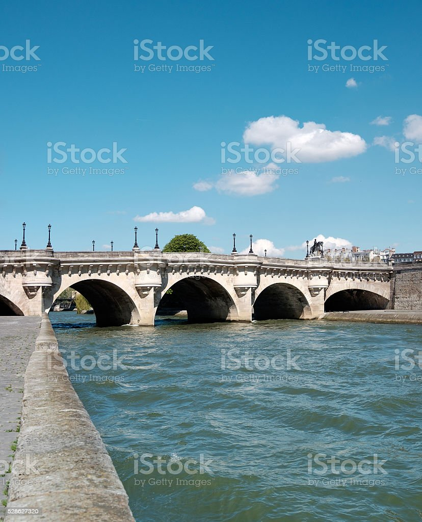 Pont Neuf in Paris, France. stock photo