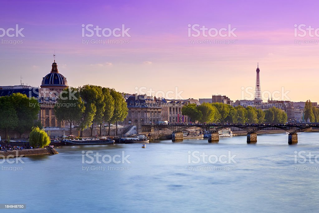 Pont Neuf over Seine River, Paris stock photo