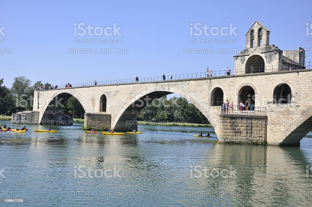 Pont Saint-Benezet in Avignon royalty-free stock photo