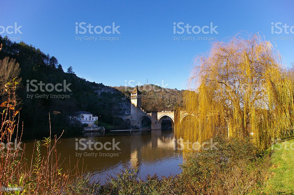 Pont Valentré stock photo
