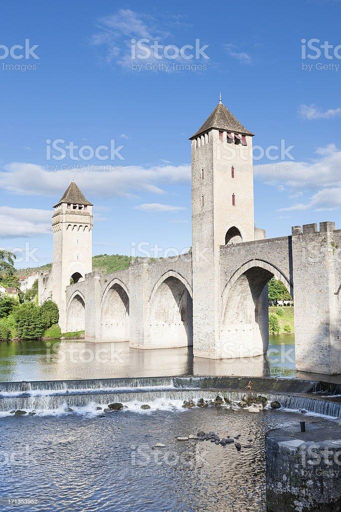 Pont Valentre, Cahors, France stock photo
