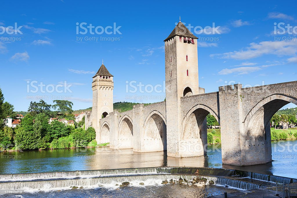 Pont Valentre, Cahors, France stock photo