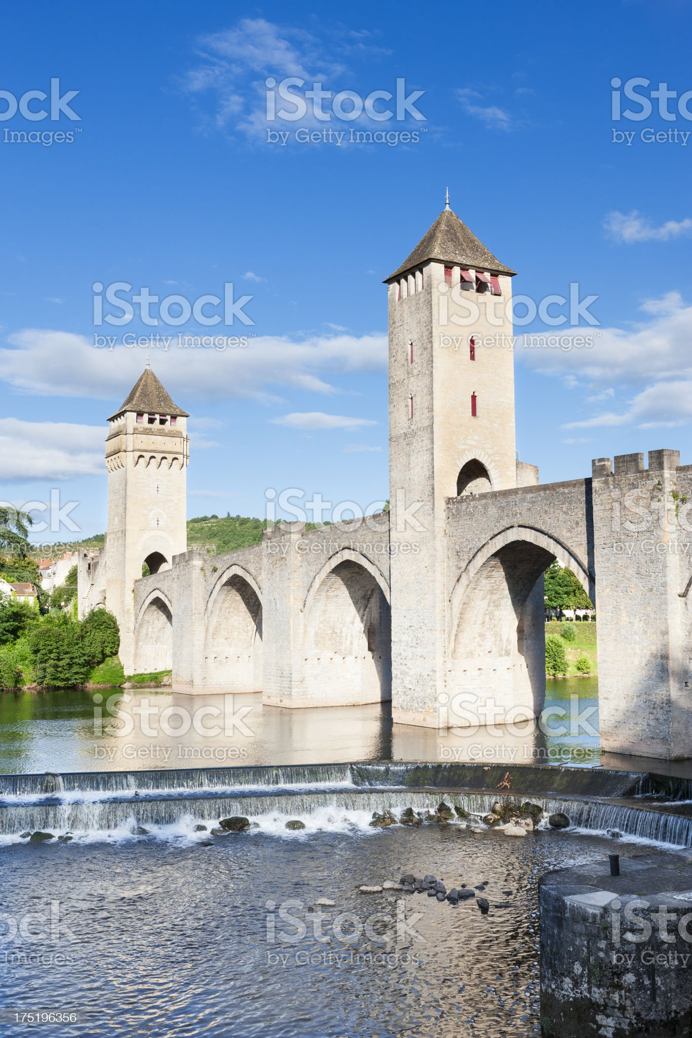 Pont Valentre, Cahors, France royalty-free stock photo