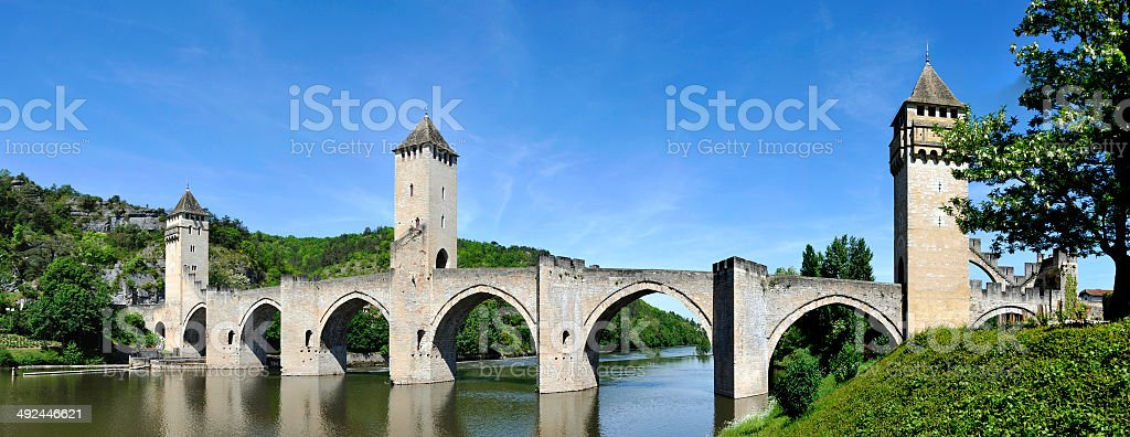 Pont Valentre in Cahors stock photo