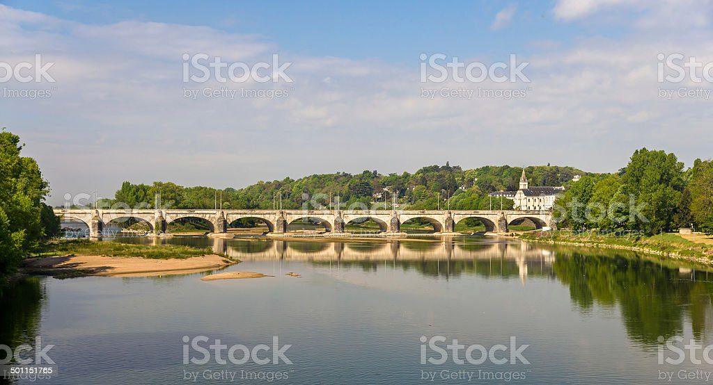 Pont Wilson in Tours - France, Region Centre stock photo