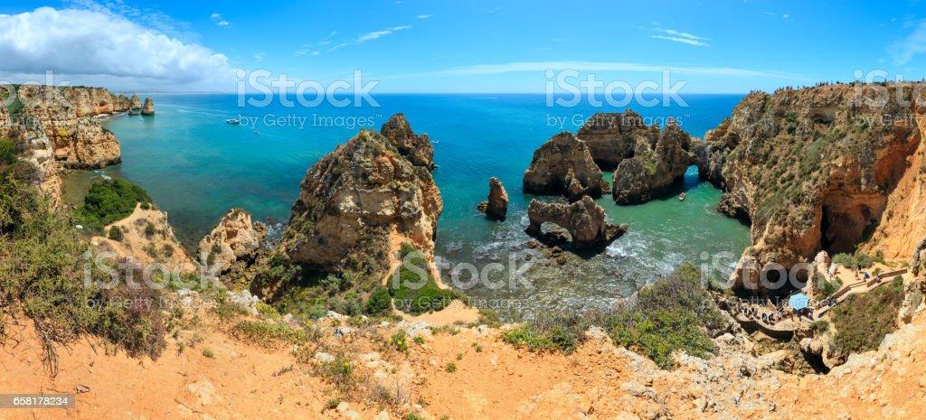 Ponta da Piedade cape (Algarve, Portugal). stock photo