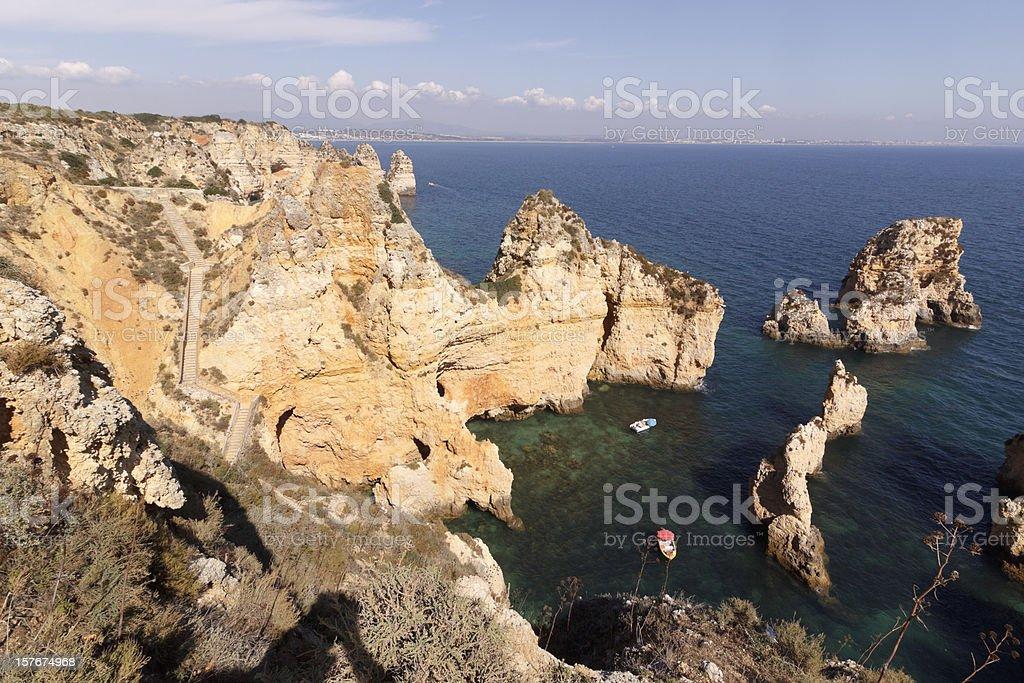 Ponta da Piedade in Lagos, Algarve, Portugal royalty-free stock photo