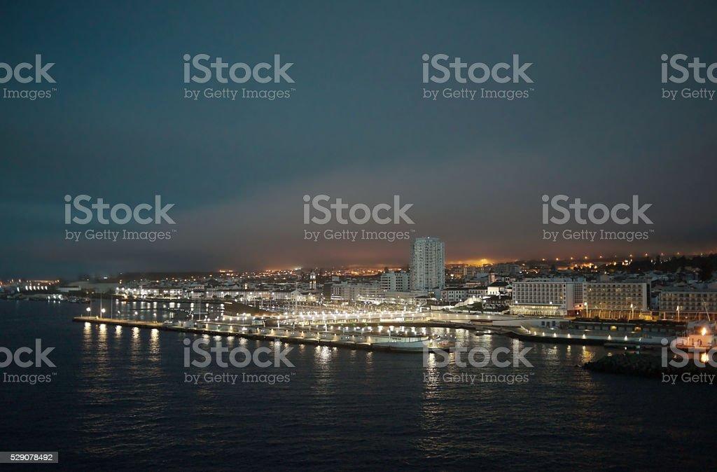 Ponta Delgada at Dawn stock photo