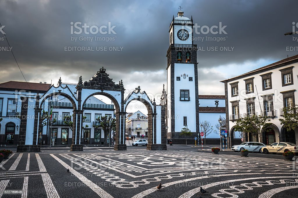 Ponta Delgada, Azores, Portugal - April 20, 2015 stock photo