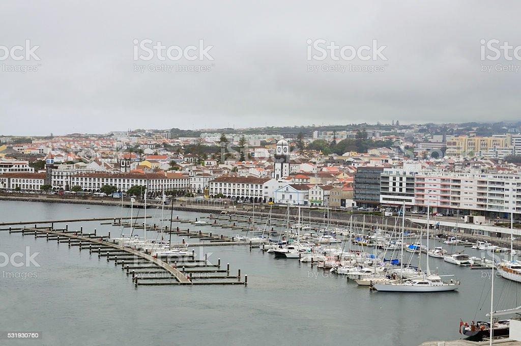 Ponta Delgada Waterfront stock photo