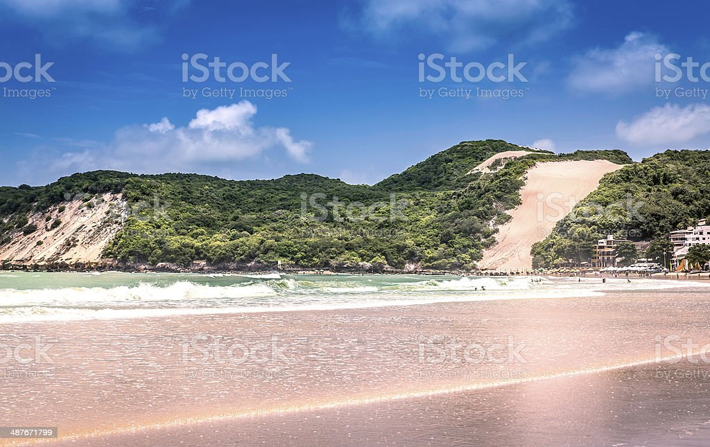 Ponta Negra dunes beach in Natal city,  Brazil stock photo