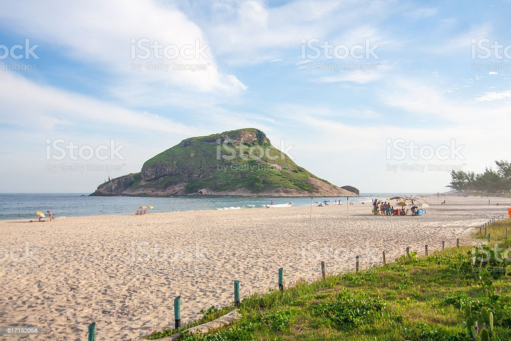 Pontal Beach in Rio stock photo