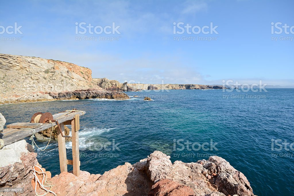 Pontal da Carrapateira, Coastline Amado to Bordeira beach Algarve stock photo