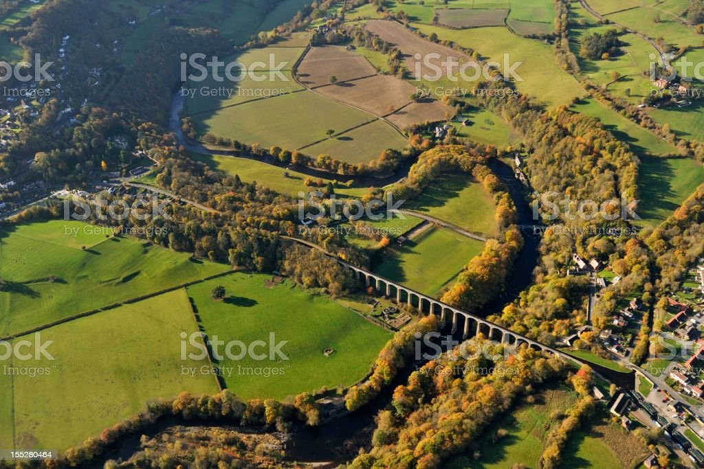 Pontcysyllte and the River Dee stock photo