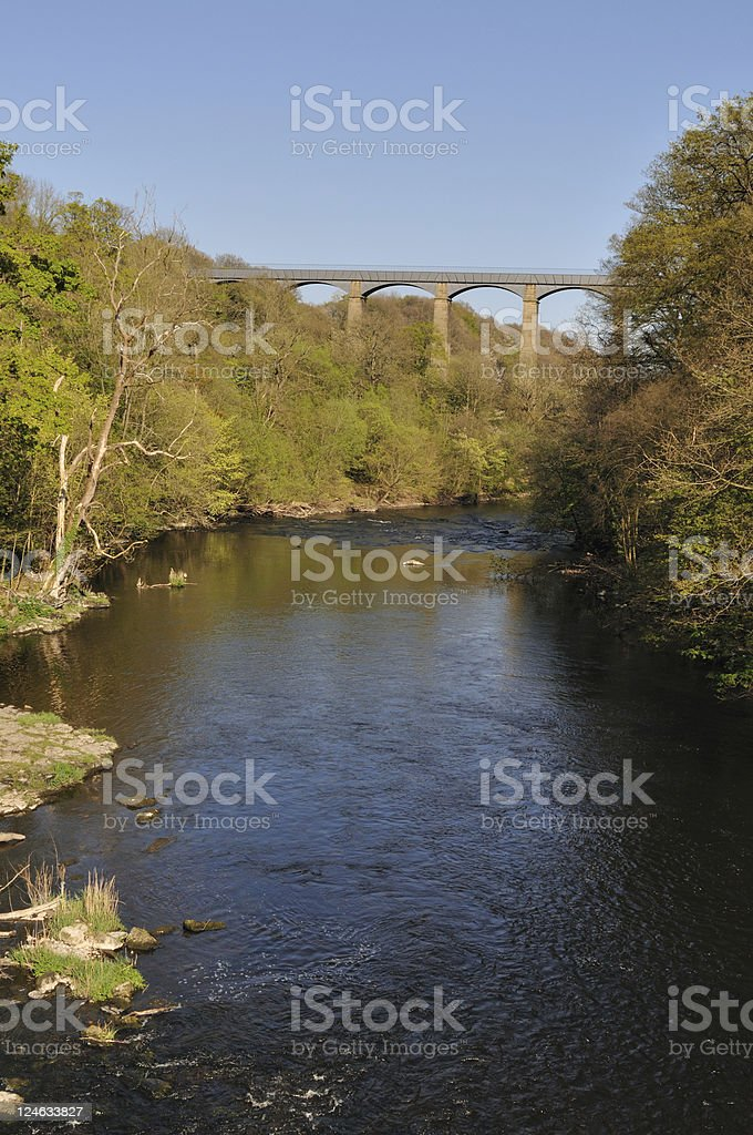 Pontcysyllte Aqueduct  and River Dee royalty-free stock photo