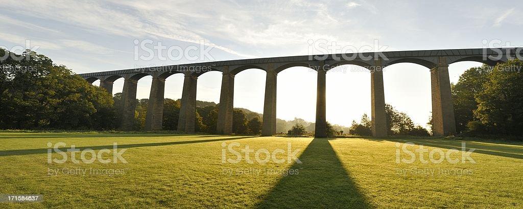 Pontcysyllte Aqueduct at Sunrise stock photo
