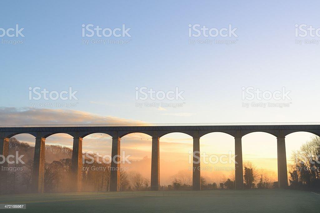 Pontcysyllte Aqueduct daybreak stock photo