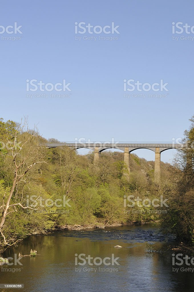 Pontcysyllte Aqueduct from the Bont royalty-free stock photo