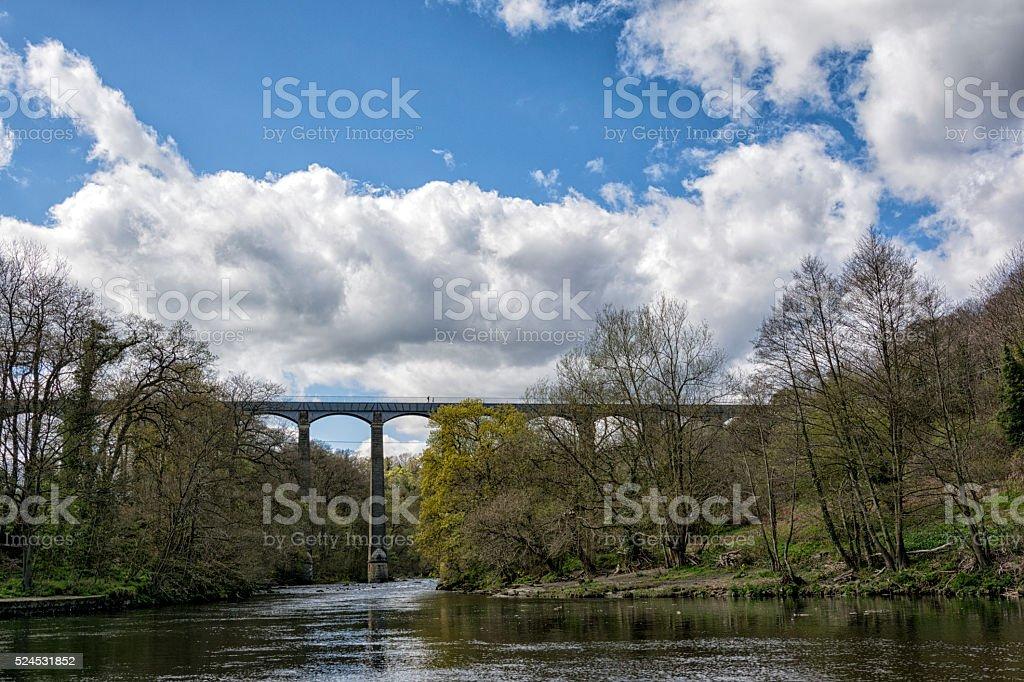 Pontcysyllte Aqueduct stock photo