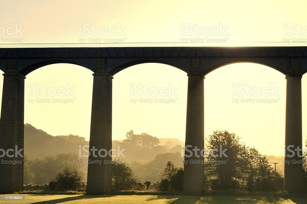 Pontcysyllte Aqueduct sunrise stock photo