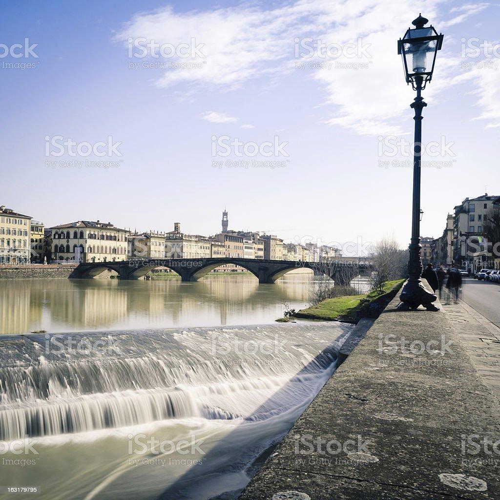 Ponte alla Carraia bridge and Arno river in Florence stock photo