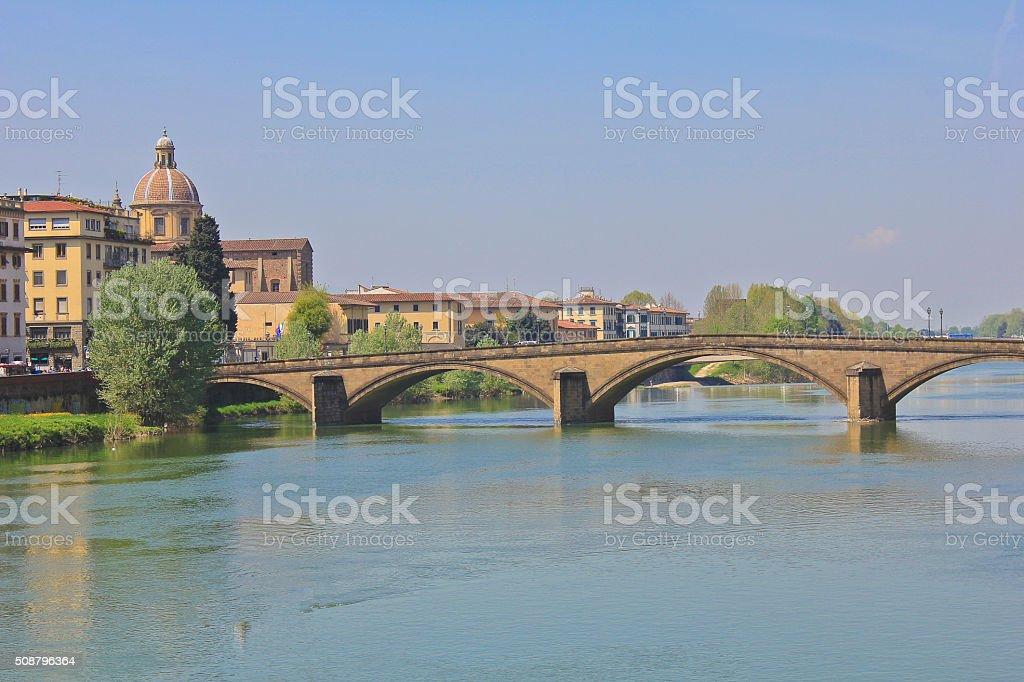 Ponte Alla Carraia stock photo
