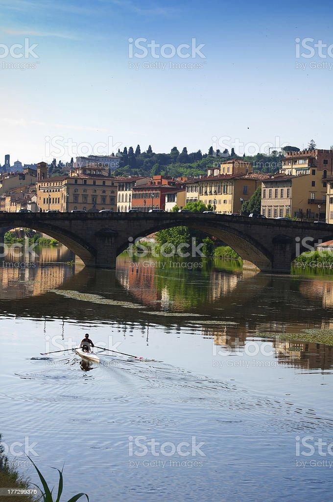 Ponte alla Carraia.Florence.Italy. stock photo