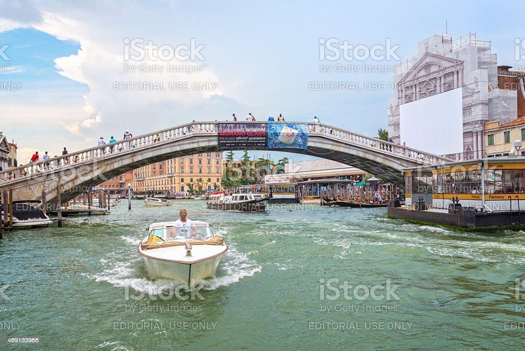 Ponte degli Scalzi in Venice stock photo