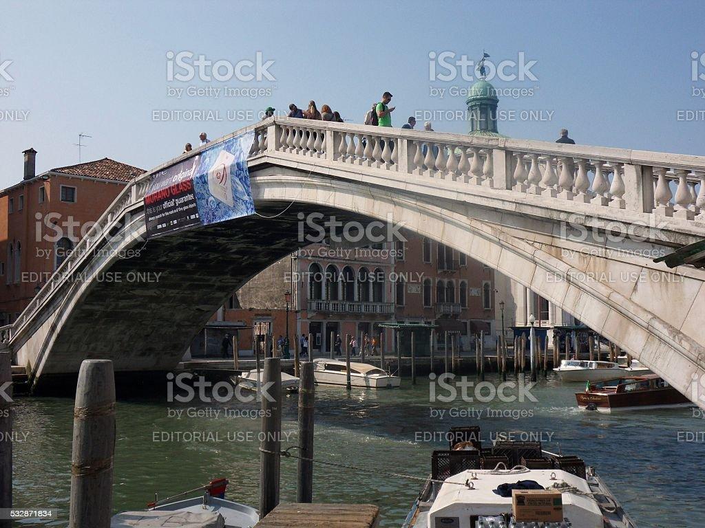 Ponte degli Scalzi stock photo