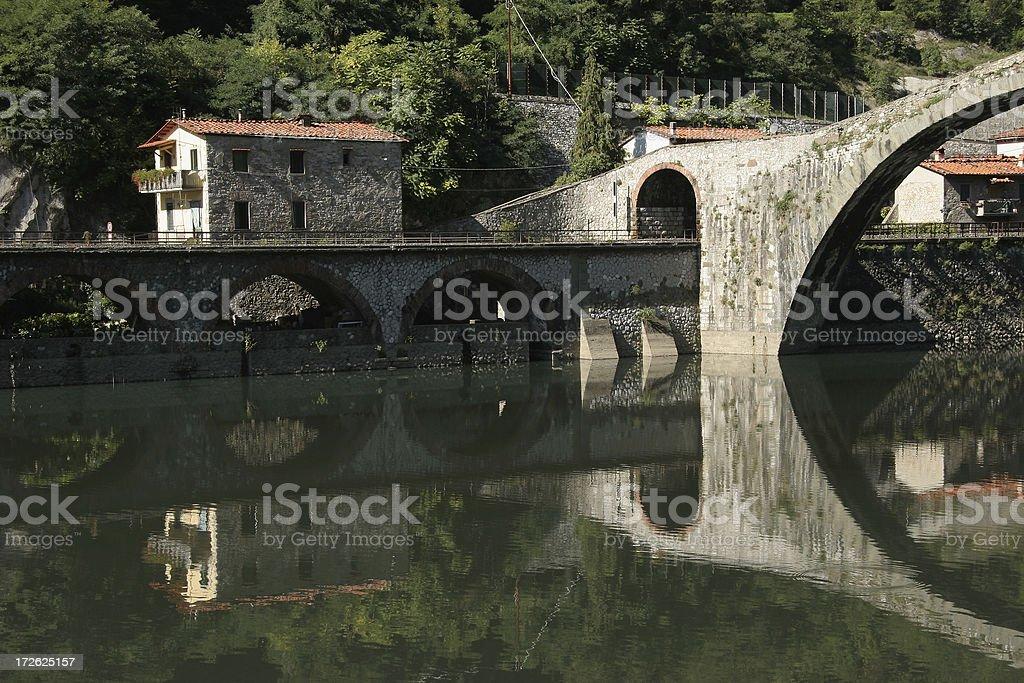 Ponte Della Maddalena. Outside of Lucca stock photo