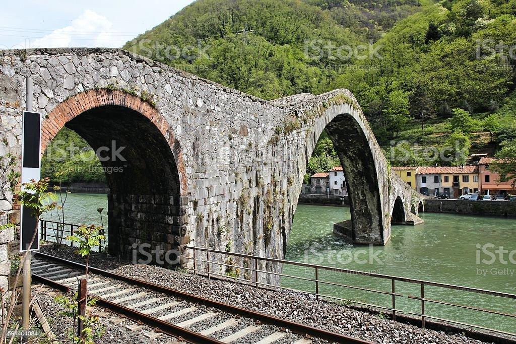 Ponte della Maddalena stock photo
