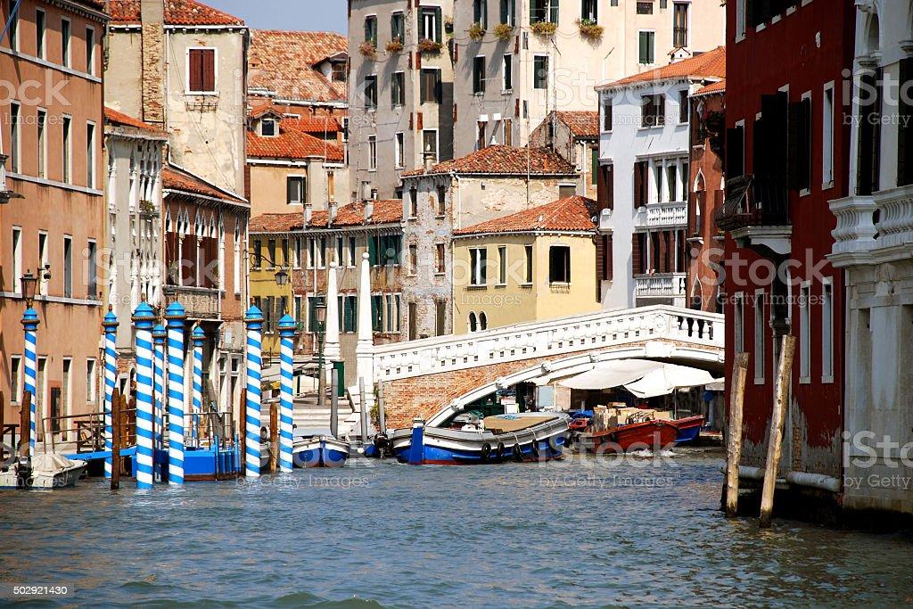 Ponte delle Guglie, Venice, Italy stock photo