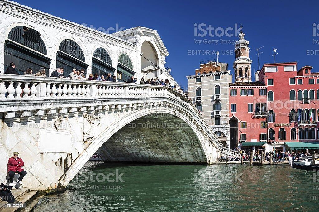 Ponte di Rialto, Venice stock photo