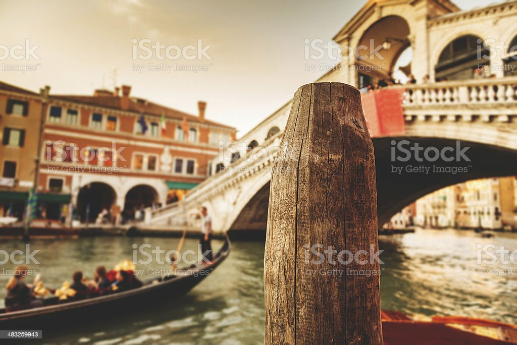 Ponte of rialto on Venice royalty-free stock photo