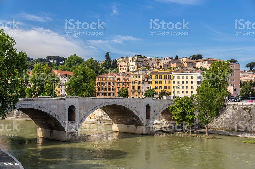 Ponte Principe Amedeo in Rome, Italy stock photo