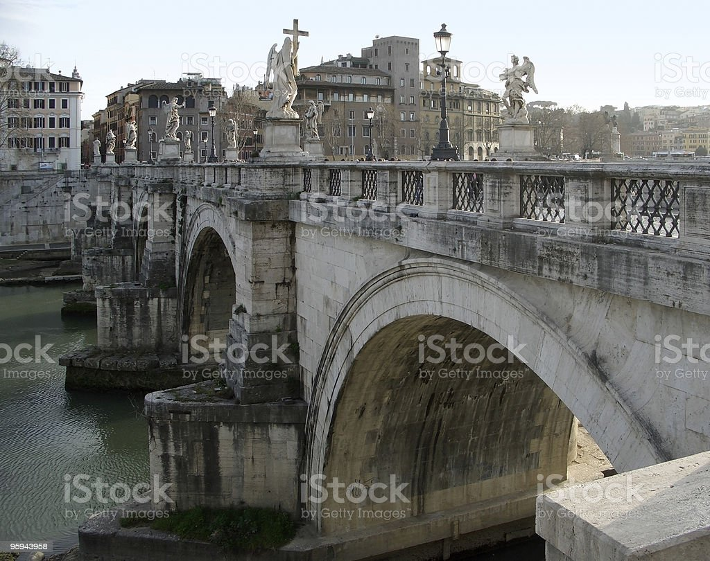 Ponte Sant´Angelo in Rome royalty-free stock photo