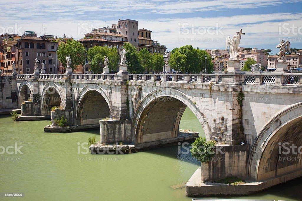Ponte Sant' Angelo stock photo