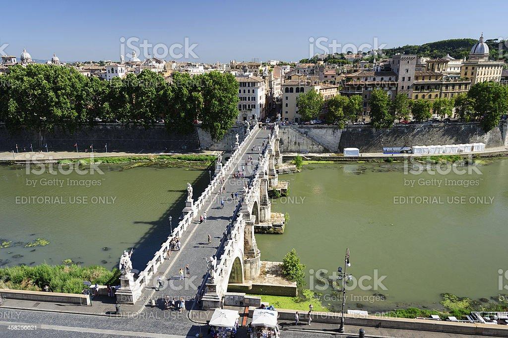 Ponte Sant Angelo royalty-free stock photo