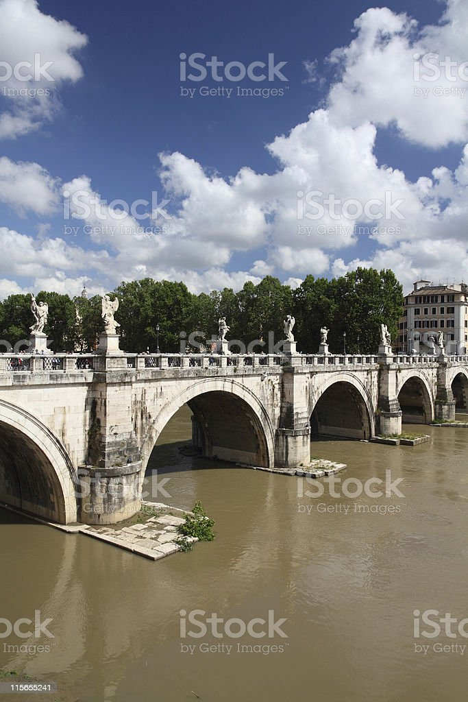 Ponte Sant Angelo, Rome royalty-free stock photo