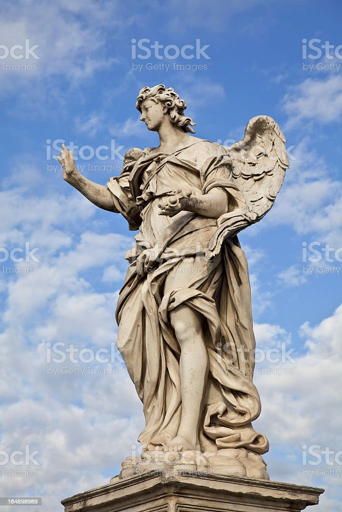 Ponte Sant'Angelo Angel with the Nails royalty-free stock photo