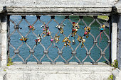 Ponte Sant'Angelo Locks in Rome, Italy
