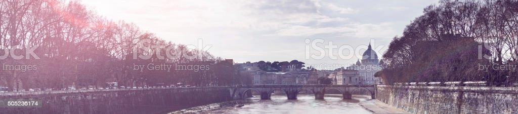 Ponte Sant'Angelo stock photo